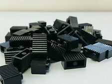 20 New Lego 1X2 Black Bricks Modified With Grill Grille Part 2877