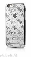OFFICIAL GUESS 4G TPU COLLECTION BACK CASE FOR IPHONE 6/6S TRANSPARENT SILVER