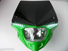 UFO GREEN ROAD LEGAL HEADLIGHT ENDURO STREETFIGHTER KAWASAKI KMX KXF KLX KDX ZXR