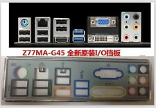 MSI IO I/O Shield BLENDE backplate FOR MSI Z77MA-G45 MOTHERPLATE #G536 XH