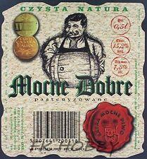 Poland Brewery Lwówek Śląski Mocne Dobre Beer Label Bieretikett Cerveza ls134.1