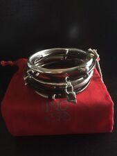 Uno De 50 Leather And Silver Bracelet Bangle Set - NWT