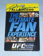 Travis Browne Signed 2014 UFC Fan Expo All-Access Pass PSA/DNA COA Autograph 168