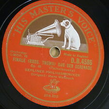 "78rpm 12"" WELSBACH - BERLINER PHIL tchaikowsky op.48 finale / walzer [ serenade"