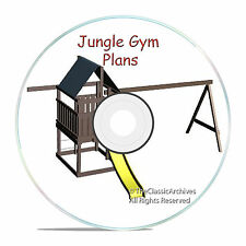 PLANS TO BUILD A KIDS CUBBY PLAYHOUSE BACKYARD JUNGLE SWINGS, WITH ROOF CD