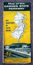 1960s GARDEN STATE PARKWAY MAP Exits Directory NEW JERSEY Highway Authority NJ
