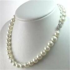 Genuine 8-9mm White Akoya Cultured Pearl Necklace
