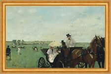 At the Races in the Countryside Edgar Degas Pferde Kutsche Rennen B A3 01442