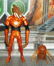 DC DIRECT BLACKEST NIGHT ORANGE LANTERN LARFLEEZE COMPLETE WITH BASE & GLOMULUS
