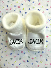 Baby Bootees -Shoes Personalised with name.