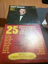 Lot of 2 Vintage Records with Sleeves Eddy Arnold & Country's 25 music greats