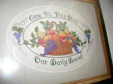 NEW Elsa Williams Our Daily Bread Cross Stitch Kit, Michael Le Clair Design