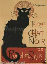 TOURNEE DU CHAT NOIR, 1897 Vintage Theater Reproduction CANVAS PRINT 24x32 in.