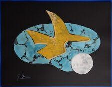 """Georges BRAQUE : """"Oiseau céleste"""" LITHOGRAPHIE SIGNEE  ARCHES"""