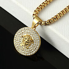 MEDUSA Kette Chain Necklace pendant 18K Gold HipHop Rap  Illuminati  75cm/30 MMG