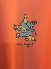 LIFE IS GOOD WOMENS T- SHIRT SIZE XXL Cotton Dark Orange Short Sleeve