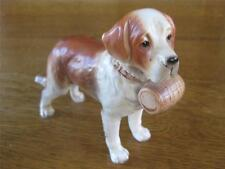 Vtg Saint Bernard Search & Rescue Puppy Dog Figurine Statue H3679 Lefton Sticker