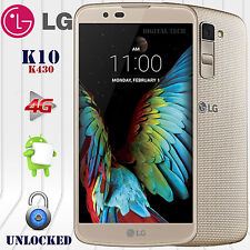 """LG K10 K430DSY 4G LTE Android 6.0 (16GB) 13MP 5.3"""" HD Unlocked GSM Phone Gold"""