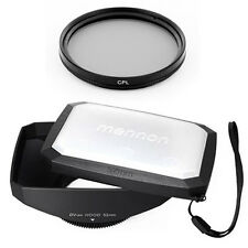 52mm 16:9 Wide Lens Hood,Filter for Panasonic Lumix DMC-G1,GH1,GF1,G10,G2,GH2,US
