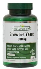 Brewers Yeast 300mg x 500 tablets Natures Aid - natural source of B Vitamins