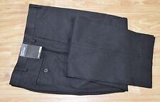 New Men's Claiborne Flat Front Microfiber Dress Pants Solid Black 36x30