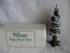 """DEPT 56 - VILLAGE - POLE PINE TREE - NEW - #55280 - 8"""" - Cold Cast Porcelain"""