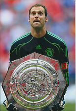 Petr CECH Signed Autograph Photo AFTAL COA Chelsea Charity Shield Winner Trophy