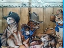 Western Cowboy Kitty Cats Wallpaper Border 2 Packages by Village
