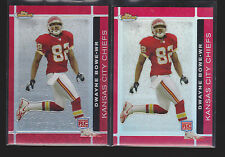 DWAYNE BOWE 2007 TOPPS FINEST REFRACTOR 2 CARD LOT KANSAS CITY CHIEFS