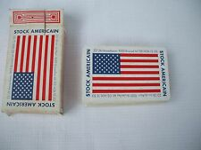 VINTAGE 1970'S PLAYING CARDS ARMY SURPLUS STORE BRUSSELS BELGIUM  AMERICAN FLAG