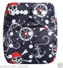 MODERN CLOTH NAPPIES REUSABLE ADJUSTABLE DIAPERS MCN Pirates