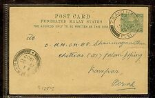 MALAYA FMS (P1012B) TIGER 2C PSC FROM TEMOH,  SCARCE, WITH MSG
