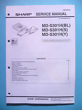 Service manual-Manuel sharp md-s301h, original