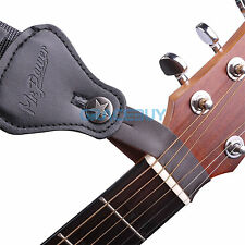 Guitar Leather Strap Button Hook Strap for Acoustic/Folk/Classical Guitar Brown