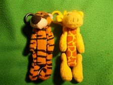 2 pez dispenser toys, furry tiger and leopard Wild Zoo Pez late 1990s/early 2000