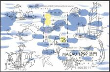 Macau 1999 Oceans/Maritime/Ships/Whales/Shells/StampEx 1v m/s GOLD o/p (b3039)