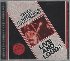 THE ADVERTS - LIVE AND LOUD!! - (still sealed cd) - MAYO CD 563
