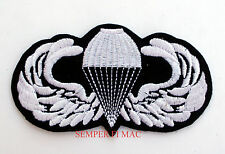 PARACHUTIST PATCH PARACHUTE AIRBORNE JUMP WING US ARMY MARINES NAVY AIR FORCE