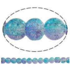 50pc 6mm 2 tone crackle glass beads-8612