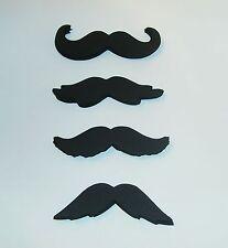 """100 Black cardstock mustaches  3 1/2""""  moustaches party favors mustache (3050M)"""