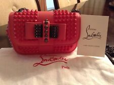 Christian Louboutin Sweet Charity Studded Shoulder Bag Pinky Leather Small