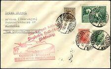 74/Zeppelin Uruguay 1932 3. Südamerikafahrt MiF Brief Condor Apolda Si 156