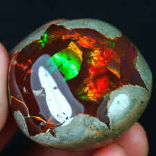 220.5CT Natural Polished Ethiopian Black Chocolate Opal Rough Specimen YQO1277