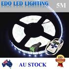 Waterproof Cool White DC 12V 5M 5050 SMD 300 Leds LED Strip Light+Remote Dimmer