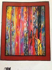 "Modern Art Quilt ""Brush Strokes"" Quilt Sewing Pattern Fabric Art by C Kearny"