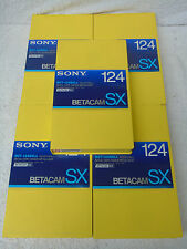 5 Brand New Sony BCT-124SXLA Betacam SX Digital Broadcast Quality Video Cassette