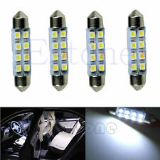 4 x 41mm 8-LED 3528 Bright White SMD Festoon Dome Car Interior Map Light Bulb
