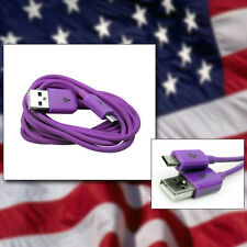 PURPLE USB Charger DATA Cable Accessory for Barnes & Noble Nook Color Tablet
