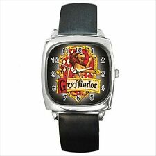 NEW* HOT HARRY POTTER HOGWARTS SCHOOL GRYFFINDOR Square Metal Wrist Watch Gift