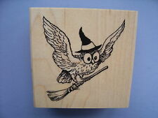 STAMPENDOUS RUBBER STAMPS WICKED OWL HALLOWEEN STAMP